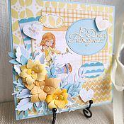 Открытки ручной работы. Ярмарка Мастеров - ручная работа Детская поздравительная открытка. Handmade.