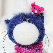 Куклы и игрушки ручной работы. Ярмарка Мастеров - ручная работа Котик с подругой мышкой - миниатюрная авторская игрушка -  подарок!. Handmade.