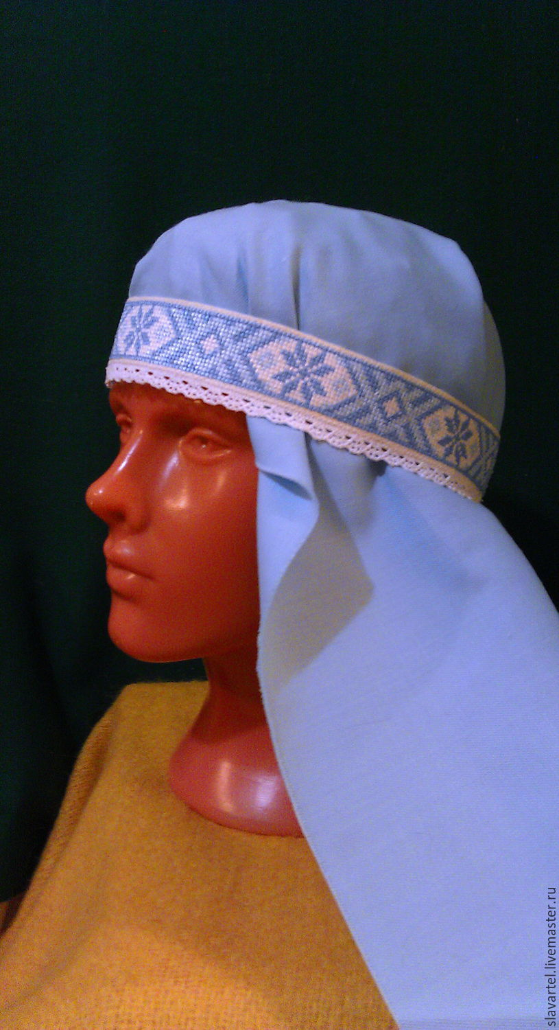 Blue hat with lace, Belts, Pyatigorsk,  Фото №1