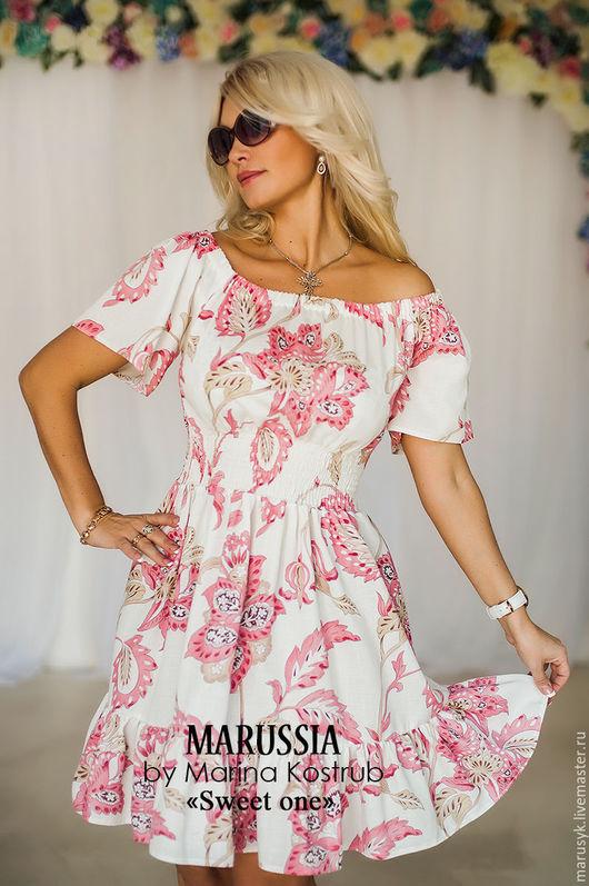 Платья ручной работы. Ярмарка Мастеров - ручная работа. Купить Платье НВ-38. Handmade. Белый, платье коктейльное