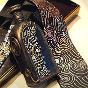 Аксессуары ручной работы. Ярмарка Мастеров - ручная работа Юбилейный  Климт, галстук и штоф.. Handmade.