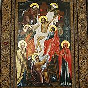 """Картины и панно ручной работы. Ярмарка Мастеров - ручная работа Икона """"Снятие со Креста"""". Handmade."""