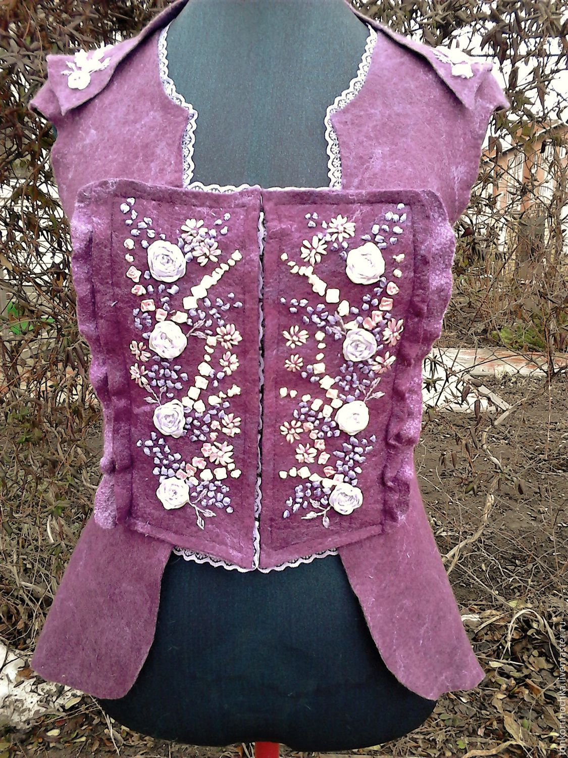 felted vest 'romantic age', Vests, Yeisk,  Фото №1