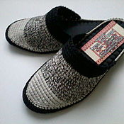 Обувь ручной работы handmade. Livemaster - original item Slippers - flip flops ( cotton black and white )). Handmade.