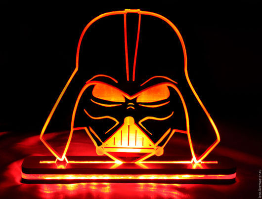 Освещение ручной работы. Ярмарка Мастеров - ручная работа. Купить ночной светильник Звездные войны. Handmade. Светодиодный светильник, дизайн