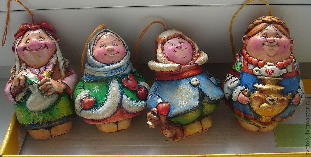 Новогодние игрушки своими руками из папье маше