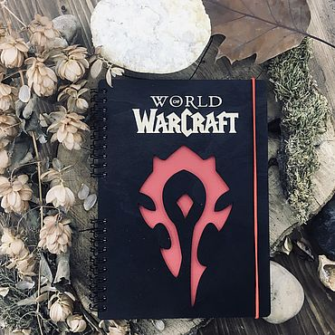 Stationery handmade. Livemaster - original item World of Warcraft Horde Wood Notepad / Sketchbook. Handmade.