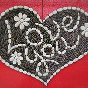 """Для дома и интерьера ручной работы. Ярмарка Мастеров - ручная работа Массажный каменный коврик """"Сердце"""". Handmade."""