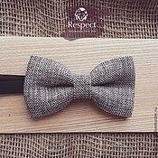 Аксессуары handmade. Livemaster - original item Tie Whisper / gray butterfly for wedding receptions. Handmade.