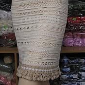 "Одежда ручной работы. Ярмарка Мастеров - ручная работа ""Мережка"" (ажурная летняя вязаная крючком юбка). Handmade."