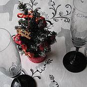 """Для дома и интерьера ручной работы. Ярмарка Мастеров - ручная работа Скатерть """"Новогодние шведские лошадки """" скатерть  новогодняя скатерть. Handmade."""