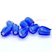 handmade. Livemaster - original item Lampwork beads buds blue. Handmade.