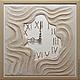 """Часы для дома ручной работы. Ярмарка Мастеров - ручная работа. Купить """"ПЕСКИ ВРЕМЕНИ"""" из песка часы авторские. Handmade. Бежевый"""