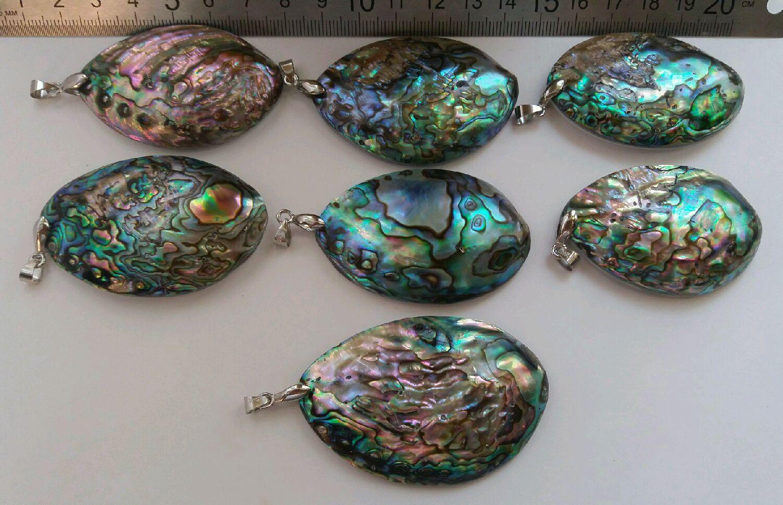 """Для украшений ручной работы. Ярмарка Мастеров - ручная работа. Купить Подвеска, кулон, натуральная морская  раковина """"Haliotis Iris"""". Handmade."""