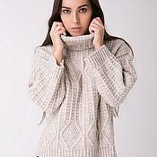 Одежда ручной работы. Ярмарка Мастеров - ручная работа Вязаный уютный свитер цвета шампиньон. Handmade.
