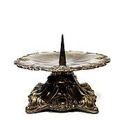 handmade. Livemaster - original item Massive antique metal candle holder for a wide candle. Handmade.