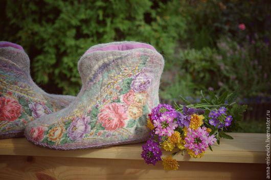 """Обувь ручной работы. Ярмарка Мастеров - ручная работа. Купить Чуни """"Летний сон"""". Handmade. Чуни, тапки женские"""