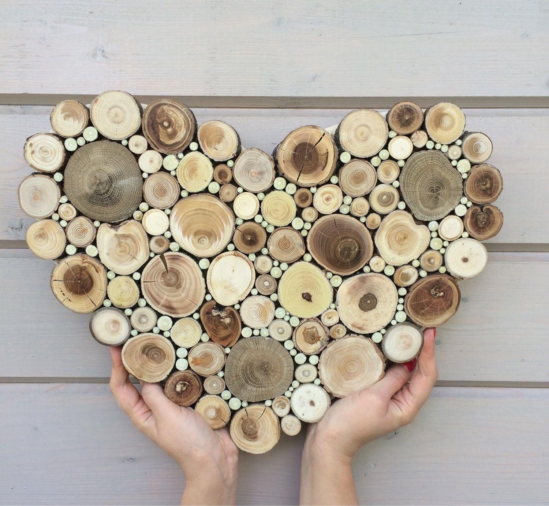 Поделки из спилов деревьев для интерьера 91