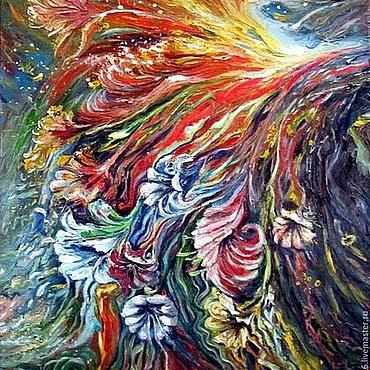 Картины и панно ручной работы. Ярмарка Мастеров - ручная работа Картина Поток энергии.. Handmade.