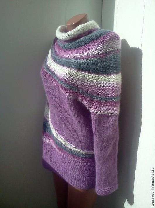 Кофты и свитера ручной работы. Ярмарка Мастеров - ручная работа. Купить Джемпер. Handmade. В полоску, свитер теплый, асимметрия