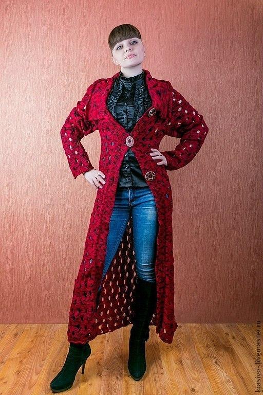 """Пиджаки, жакеты ручной работы. Ярмарка Мастеров - ручная работа. Купить Пальто лёгкое """"Бордо"""". Handmade. Пальто из шерсти"""