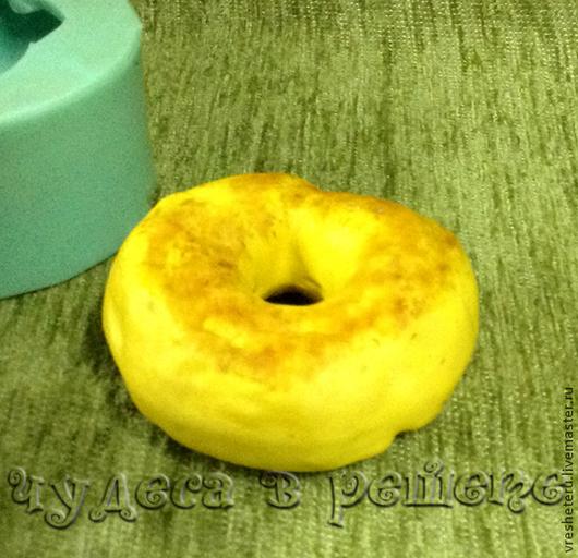 Материалы для косметики ручной работы. Ярмарка Мастеров - ручная работа. Купить Пончик, объемная силиконовая форма. Handmade. Голубой