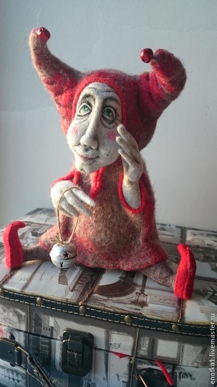 Коллекционные куклы ручной работы. Ярмарка Мастеров - ручная работа. Купить Триньколо. Handmade. Авторская ручная работа, войлок, бубенчики