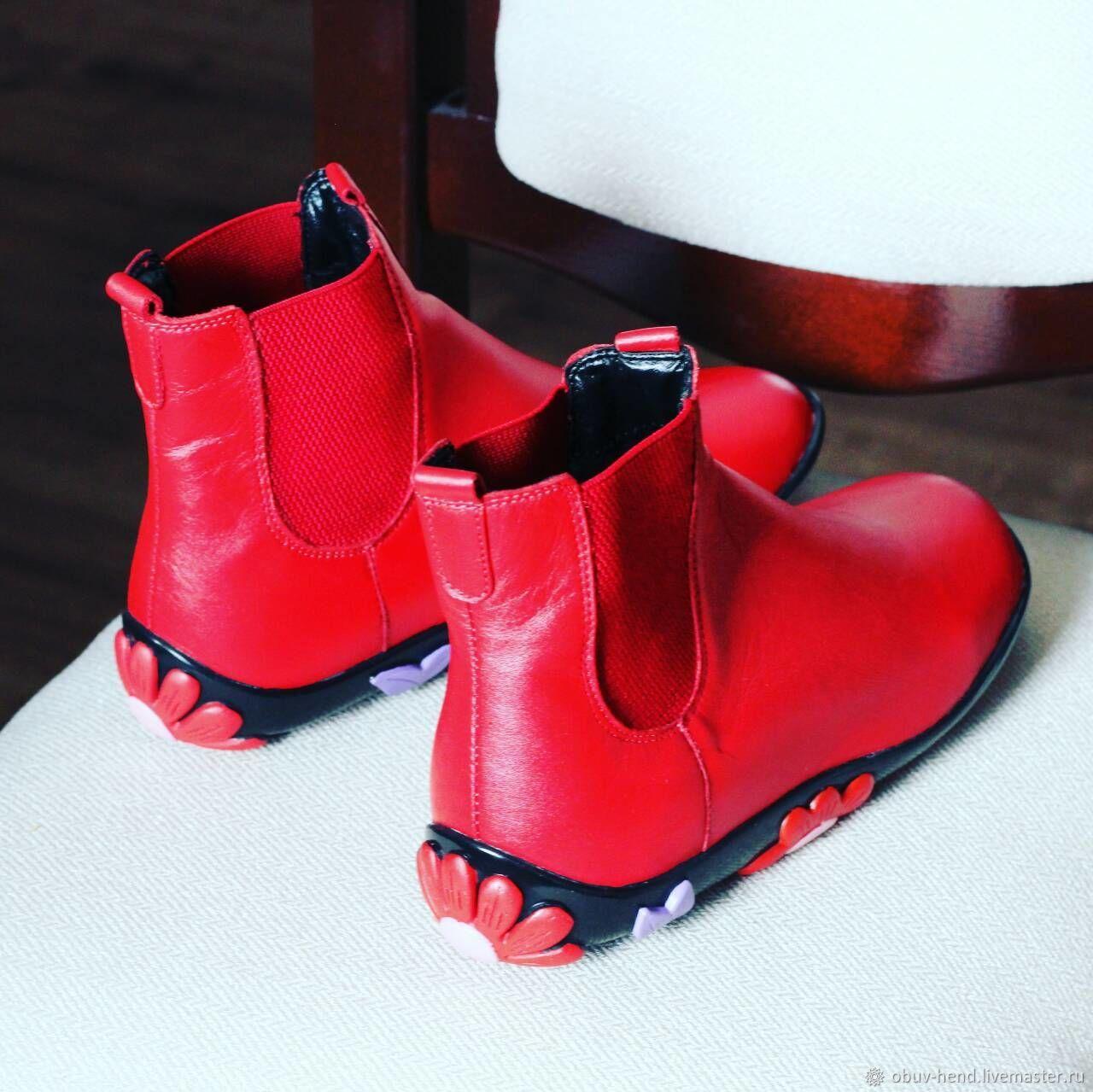 Ботинки с ромашками, Ботинки, Оренбург,  Фото №1