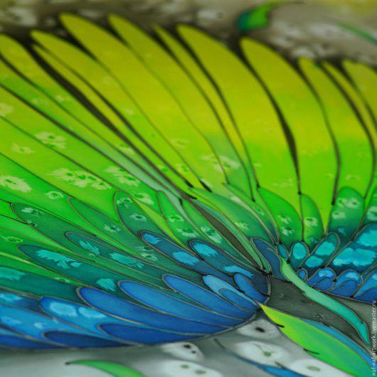 """Шали, палантины ручной работы. Ярмарка Мастеров - ручная работа. Купить Палантин """"Крылья птицы"""". Handmade. Комбинированный, ручная роспись"""