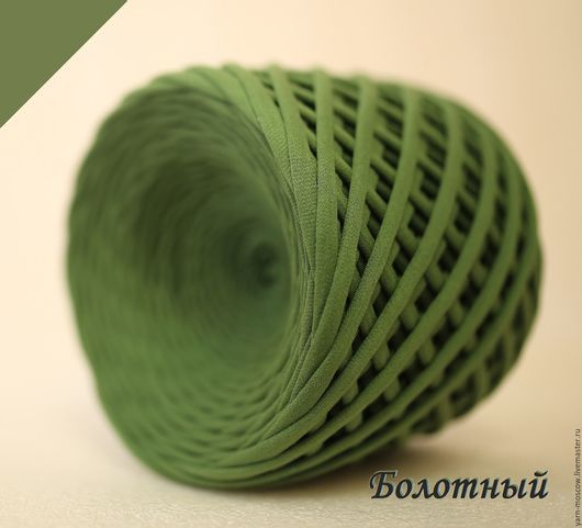 Вязание ручной работы. Ярмарка Мастеров - ручная работа. Купить Трикотажная пряжа, цвет Болотный. Handmade. Хаки, низкие цены