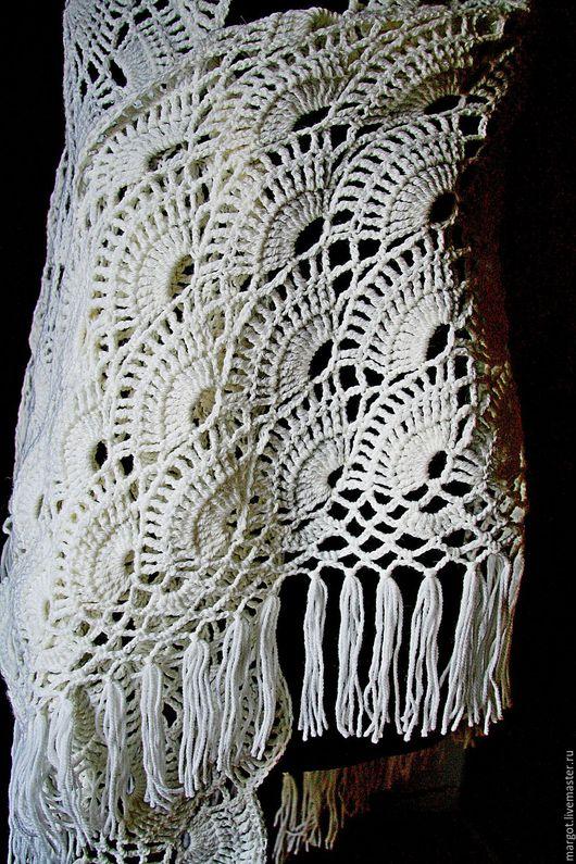 """Шали, палантины ручной работы. Ярмарка Мастеров - ручная работа. Купить Шаль """"Метелица"""". Handmade. Белый, шаль, теплая шаль"""