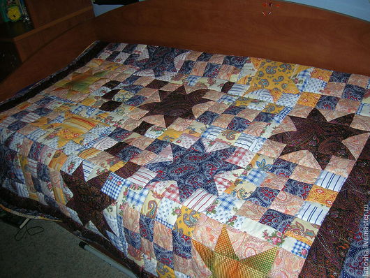 Текстиль, ковры ручной работы. Ярмарка Мастеров - ручная работа. Купить Лоскутное покрывало Звезды. Handmade. Лоскутное покрывало, пэчворк