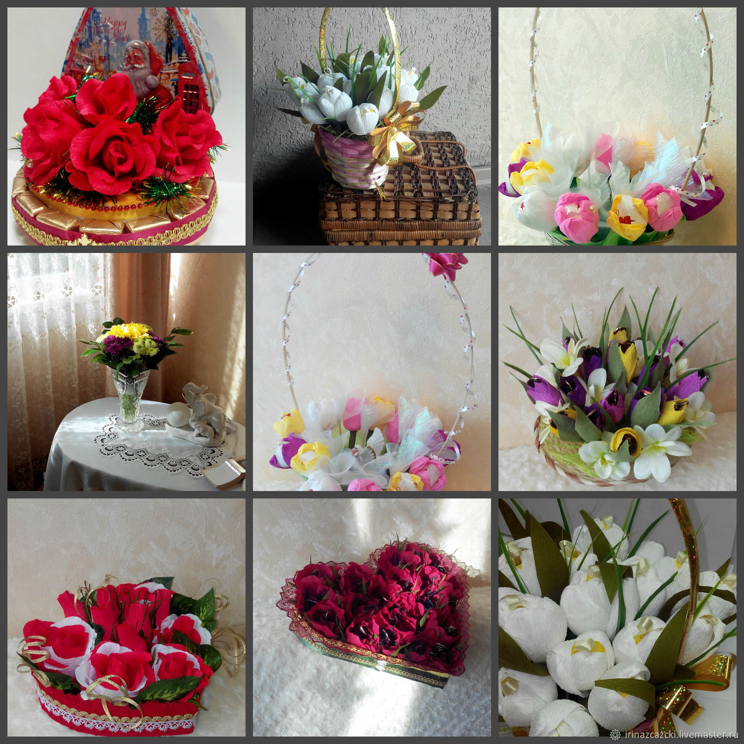 souvenir food handmade livemaster handmade buy sweet bouquetchristmas candy bouquet - Christmas Candy Bouquet
