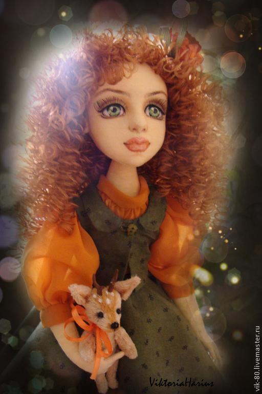 Коллекционные куклы ручной работы. Ярмарка Мастеров - ручная работа. Купить Энди. Handmade. Кукла, интерьерная кукла, оранжевый