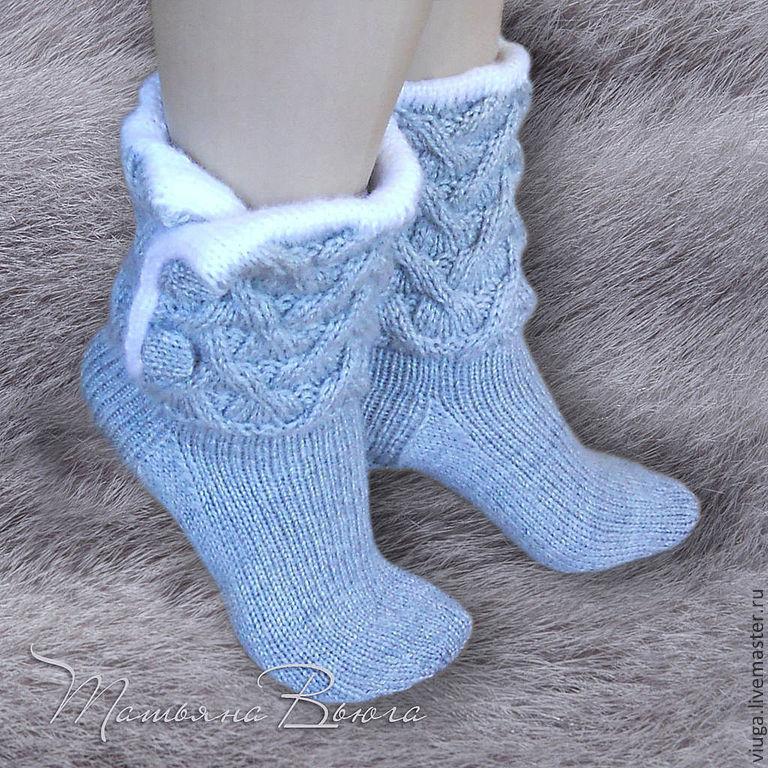 Носки шерстяные, вязаные носки