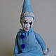Коллекционные куклы ручной работы. Ярмарка Мастеров - ручная работа. Купить Арлекиночка. Handmade. Голубой, авторская кукла, подарок для женщины