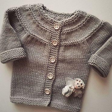 Одежда ручной работы. Ярмарка Мастеров - ручная работа Кофточка новорожденному. Handmade.