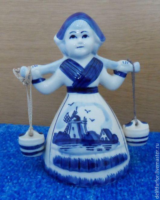 """Винтажные предметы интерьера. Ярмарка Мастеров - ручная работа. Купить Статуэтка Делфт """"Водоноска"""" Delft. Handmade. Голубой, статуэтка делфт"""