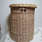 Для дома и интерьера handmade. Livemaster - original item Large wicker basket for linen with a cover made from natural willow twigs. Handmade.