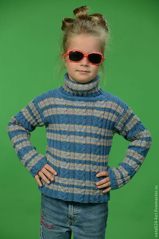 Одежда для девочек, ручной работы. Ярмарка Мастеров - ручная работа. Купить водолазка стиль. Handmade. Синий, для девочки, осенняя мода
