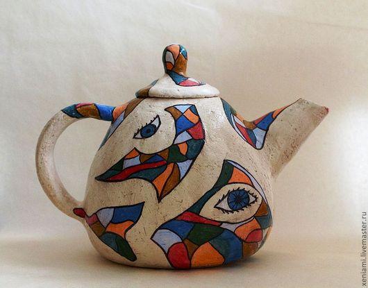 Сервизы, чайные пары ручной работы. Ярмарка Мастеров - ручная работа. Купить Чайник для Ольги. Handmade. Чайник, лепная посуда