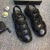 Обувь ручной работы handmade. Livemaster - original item Crocodile leather men`s sandals, summer casual shoes!. Handmade.