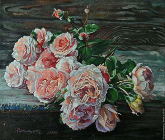 """Картины цветов ручной работы. Ярмарка Мастеров - ручная работа. Купить """"Любовь, как роза, цветет в моем саду"""".. Handmade. Комбинированный"""