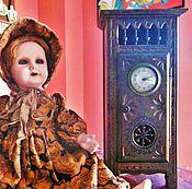 Винтаж ручной работы. Ярмарка Мастеров - ручная работа Старинная антикварная мебель часы для кукол XIX век Франция. Handmade.