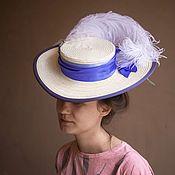 Субкультуры handmade. Livemaster - original item Womens retro straw hat art Nouveau. Handmade.