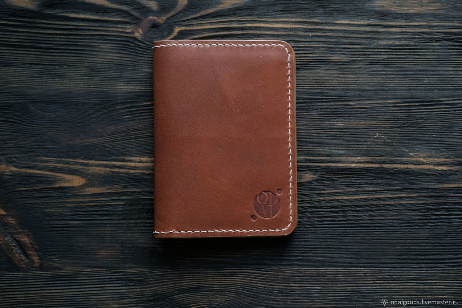 Leather cover for documents (passport) brown, Passport cover, St. Petersburg,  Фото №1