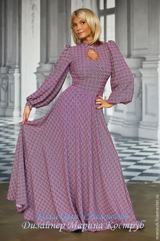 Платья ручной работы. Ярмарка Мастеров - ручная работа. Купить Платье Сн-2-капля 2/2. Handmade. Бордовый