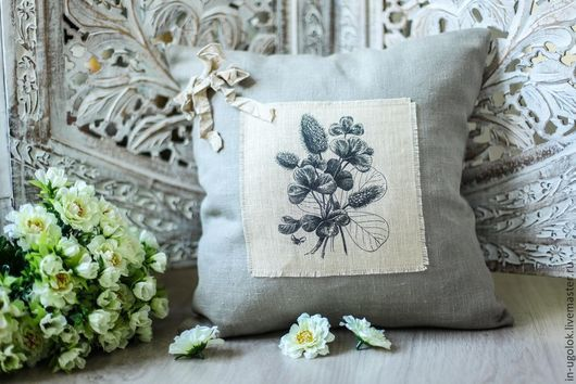 Подушка лен, подушка, наволочка лен, подушка интерьерная, подушка декоративная, подушка на диван, подушка в стиле рустик, подушка винтаж, домашний текстиль, текстиль в винтажном стиле