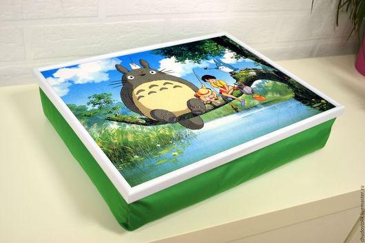 Мебель ручной работы. Ярмарка Мастеров - ручная работа. Купить Столик-поднос на зеленой подушке (с вашей картинкой). Handmade.