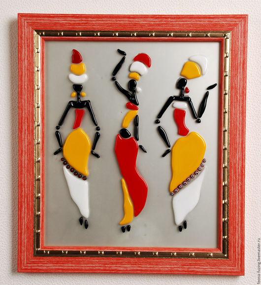 """Люди, ручной работы. Ярмарка Мастеров - ручная работа. Купить Картина """"Танцы на стеклах"""". Handmade. Комбинированный, авторская работа"""